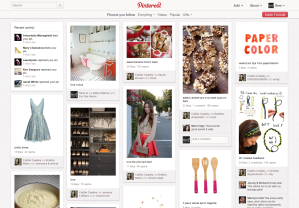 Página principal de Pinterest